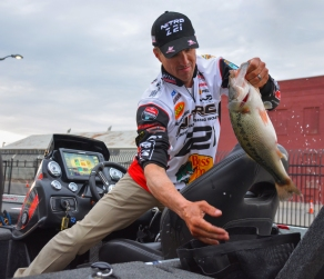 Edwin Evers loads up part of his Championship Sunday limit. Photo by Joel Shangle.