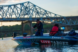 Scott Martin gets his rods ready to roll on Day 1. Photo by Joel Shangle.