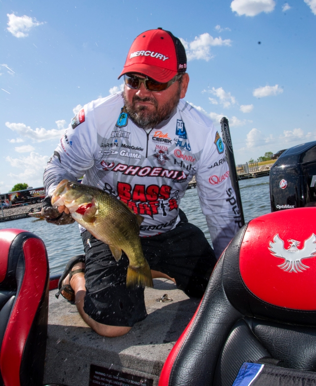 Greg Hackney throwing them in at a record pace through six tournaments. Photo by Joel Shangle.