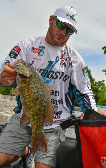 Livingston pro Hank Cherry was one of 71 anglers with 15 pounds or more. Photo by Joel Shangle.
