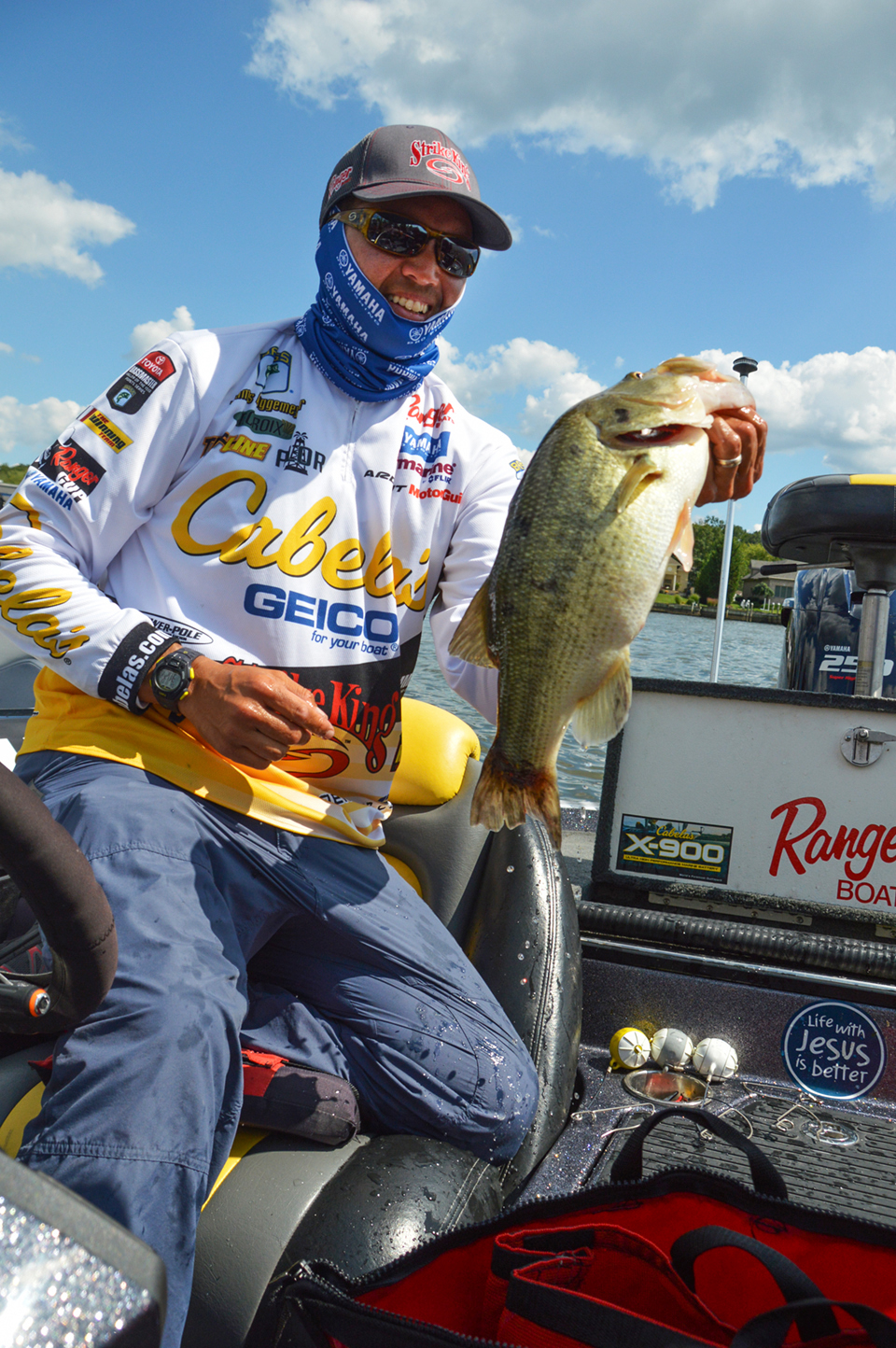 BASSfest sets up well for the Texas gang. James Niggemeyer will quietly put a Texas whoopin' on Texoma. Photo by Joel Shangle.
