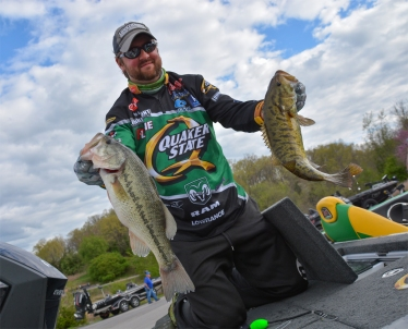 Two-time defending Beaver Lake winner Matt Arey came to play on Day 1. Photo by Joel Shangle.