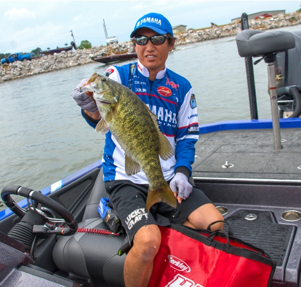 Takahiro Omori caught big fish of all colors at Wheeler. Photo by Joel Shangle.