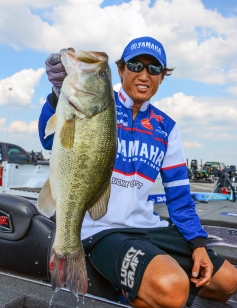 Takahiro Omori showed up on Day 2 with a giant. Photo by Joel Shangle.