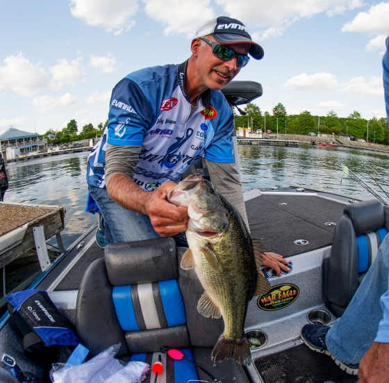 How bad does Livingston Lures pro Andy Morgan want to win the Forrest Wood Cup? Bad. Like, grizzly-with-a-toothache bad. I don't care if it's an ice-fishing competition, I'm never betting against the G.O.A.T. Photo by Joel Shangle.