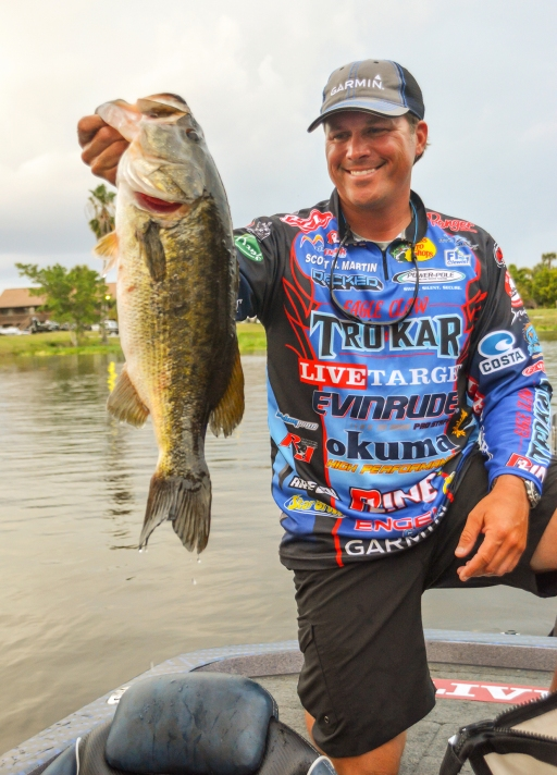 """If Garmin pro Scott Martin is in the Cup field, he's automatically a threat to win. Doesn't matter what fishery it's on. The 2011 FWC champ has matured into maybe the best """"big-game player"""" on Tour, with four Top 10s in the last five FWCs. Photo by Joel Shangle."""