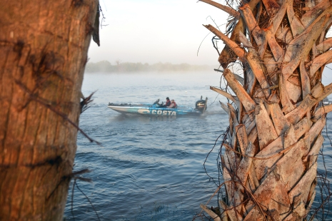 Looks like we're back in Florida: Costa pro Casey Ashley heads out onto Okeechobee. Photo by Joel Shangle.