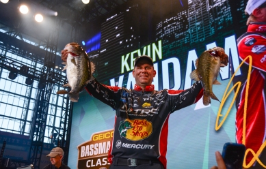 "9. Unless you've been on a boat with Quantum pro Kevin Vandam, you can't begin to understand just what a machine he is. Not in a robotic way, but in an ""I'm going to beat the daylights out of you"" way. Photo by Joel Shangle."